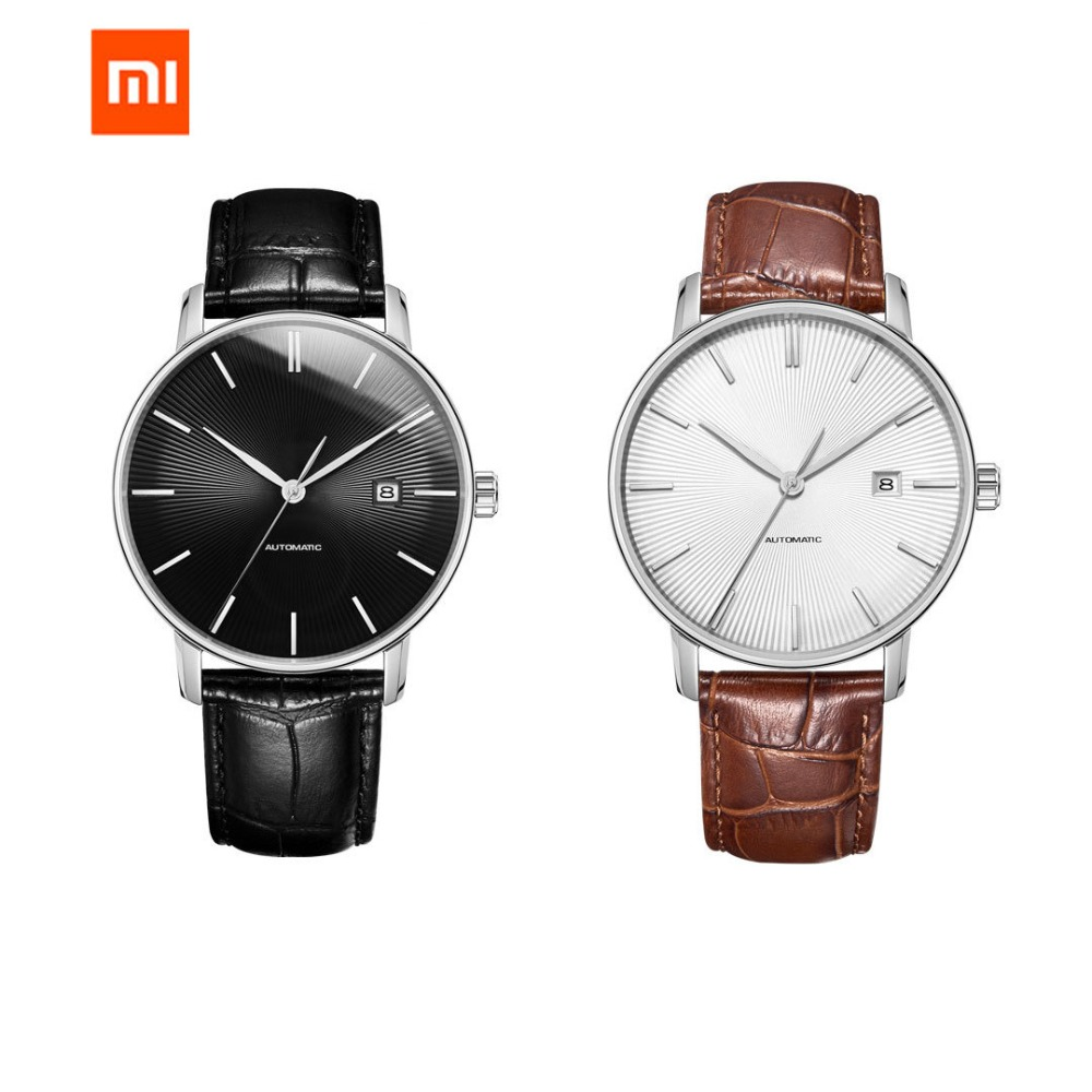 New Original Xiaomi Mijia TwentySeventeen Light Mechanical Watch With Sapphire Surface And Leather Strap Best Gifts
