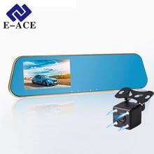 HD Coche lleno Dvr Grabador de Vídeo Digital Auto Azul retrovisor Doble Lente de la Cámara Del Espejo Retrovisor Del Vehículo Registrador Dash videocámara