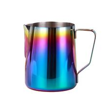Pitcher-Jug Creamer-Frothing-Cup Latte-Art Stainless-Steel Espresso for Rainbow-Color