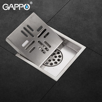 GAPPO Drains Anti odor Bathroom Floor Drainers bathroom drains stoppers Bathtub Shower Drainer Strainers