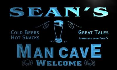 x0096-tm Seans Man Cave Biker Bar Custom Personalized Name Neon Sign Wholesale Dropshipping On/Off Switch 7 Colors DHL