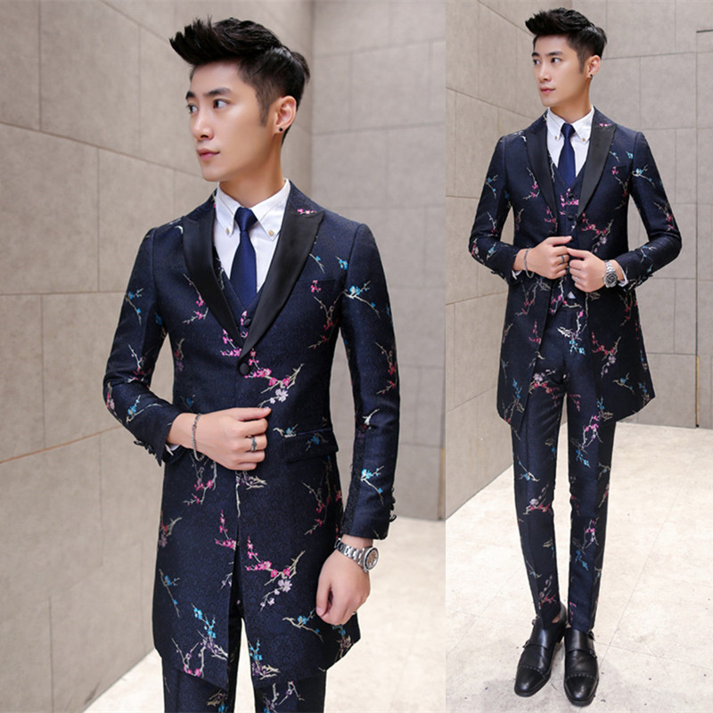 Autumn And Winter New Stylist Long Fashion Printed Suit