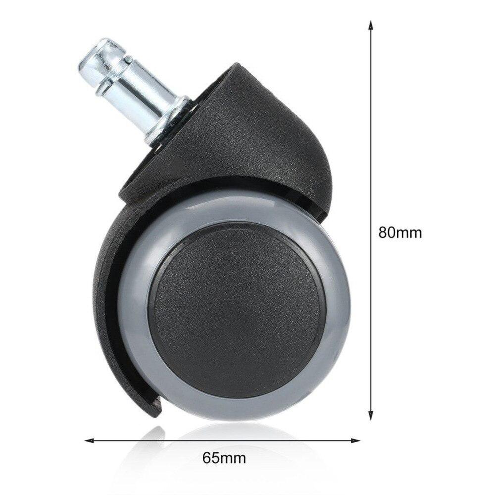 1 шт. резиновый прочный вращающийся на 360 градусов поворотный ролик колеса ролики Офисный Компьютерный стул ролики резьбовой стержень дропшиппинг