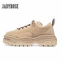 Jady Rose 2018 New Hot Women Sneakers Lace Up Platform Shoes Woman Creepers Female Casual Flat Shoe Tenis Feminino Espadrilles
