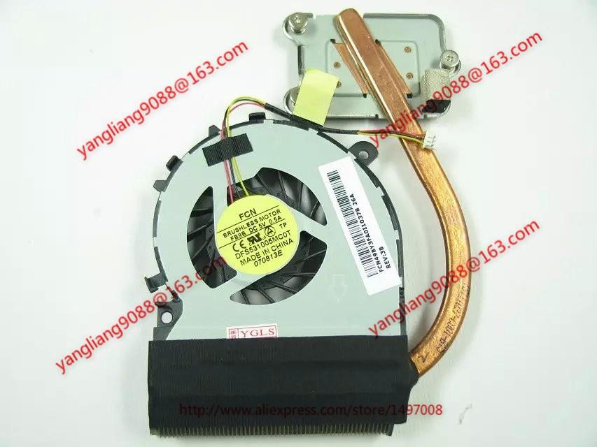 FCN DFS531005MC0T, FB9B L845 DC 5V 0.5A 3-wire 3-pin connector 60mm Heat sink fan