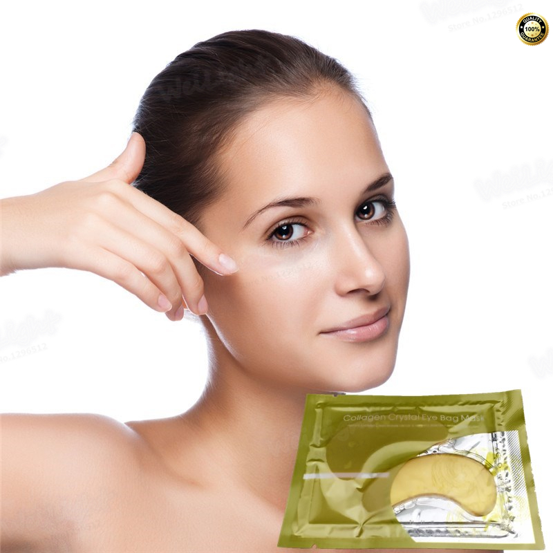 2017 New Gold Hydrogel Eye Patch 2 pcs Gel Mask Skincare Dilute The Black Eye Fine Lines Eye Mask Replenishment