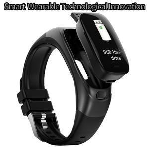 Pulsera inteligente de 32 GB de disco U, unidad Flash USB, pulsera inteligente de Frecuencia Cardíaca de silicona, pulsera para medir la presión arterial, Fitness