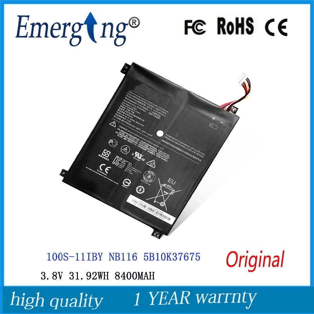 3 8V 31 92Wh 8400mah New Original NB116 Laptop Battery for Lenovo Ideapad  100S NB116 0813001 5B10K37675
