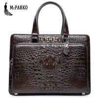 Пояса из натуральной кожи для мужчин Сумка портфели крокодиловой роскошные сумки черный коричневый
