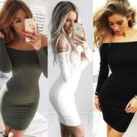 2016 Women Autumn New Sexy Pencil Brought The Slim Pack Hip Nightclubs Mini Dress Style Of
