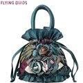 ЛЕТЯЩИЕ ПТИЦЫ женщины сумка ведро женщины сумочку дизайн повседневная кошелек tote высокое качество цветок Мумия сумка женская 2016 LM4025fb