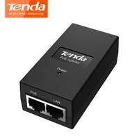 Tenda PoE15F Injector Adapter 10 100Mbps Power 802 3af 15W RJ45 Ethernet Network Switch PoE Splitter