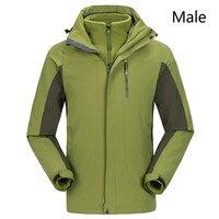 Для мужчин и wo Для мужчин ветровка на осень зиму открытый утолщение два комплекта из ветрозащитный водонепроницаемый тепловой горнолыжный
