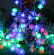 Holiday Light 4M 20 LEDs 220V waterproof outdoor RGB LED string lights Christmas Light holiday wedding Birthday party decotation