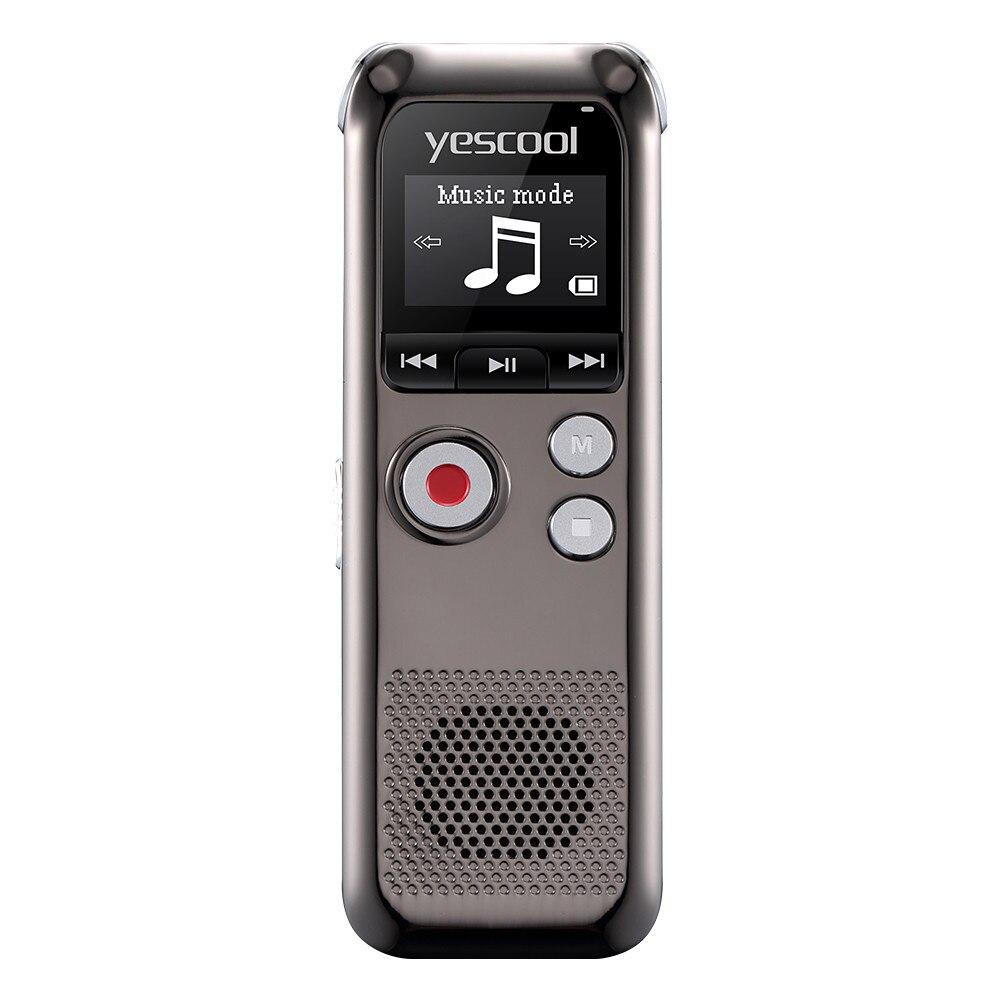 Yescool A60 8 GB enregistreur vocal Original 2160 heures enregistrement Dictaphone enregistrement Audio numérique caché avec lecteur MP3 WAV - 2