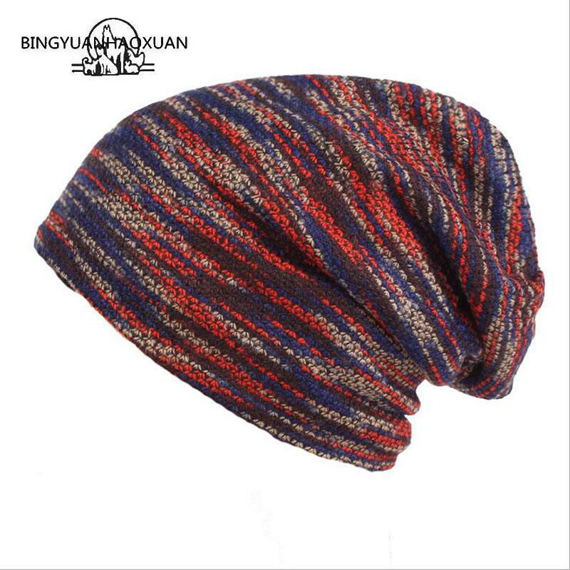 BINGYUANHAOXUAN New Winter Cap Men and Women Winter Warm Wool Hat   Skullies     Beanies   Outdoor Plus Cashmere Warm Knitted Hat