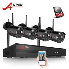 ANRAN Plug And Play 720 P HD Sans Fil CCTV Kit Extérieur Étanche Caméra IP WIFI Caméra de Sécurité Système 1 TB HDD Sélectionnable