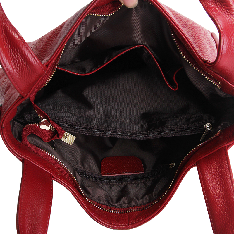 Very Large Women Bag Genuine Leather Bags For Luxury Handbags Fashion Shoulder Zipper Casual Tote Solid Messenger In From
