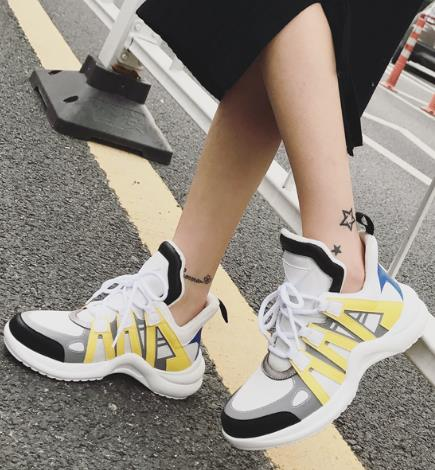Max Sosa 2018 Paris newest hot show shoes leather stitching running shoes couple increase men and women shoes luxury