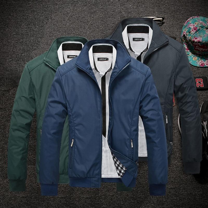 MSAISS New Jacket Men Overcoat Casual bomber Jackets Mens outwear Windbreaker Coat Jaqueta Masculina Veste Homme