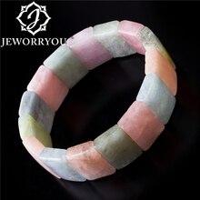 6x12x18mm Morganite Bracelet Beads Women Bracelets For Girls Natural Stone Bracelet Unisex Natural Beryl For Man Gift