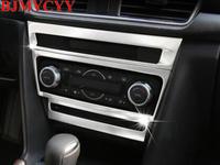 BJMYCYY 3PCS/SET Automobile central control ABS decoration frame for Mazda Axela 2017