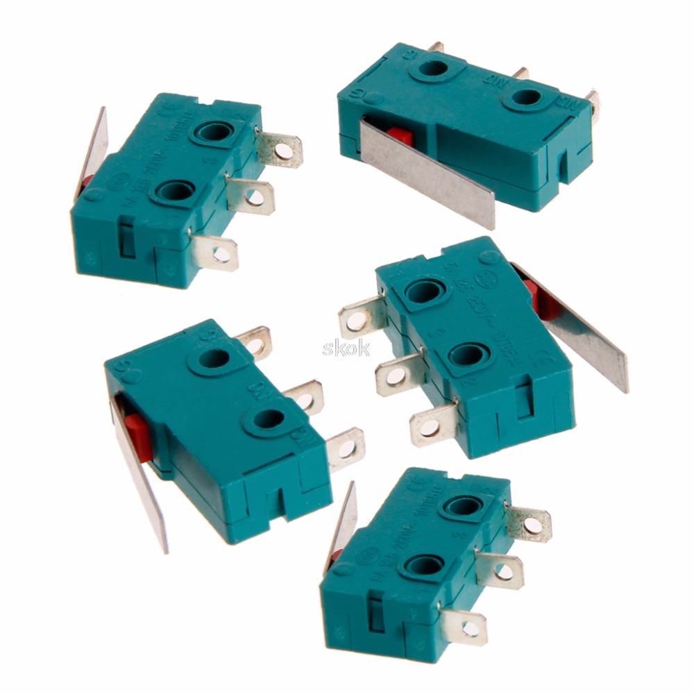 5Pcs Travel Switch Limit Switch 3 Pin N/O N/C 5A 250V Micro Switch KW4-3Z-3 MAY28 dropshipping