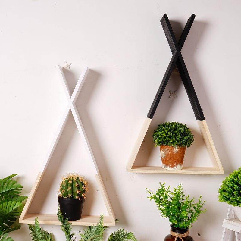 Plank Voor Aan De Muur.Kopen Goedkoop Scandinavische Stijl Houten Driehoek Plank Muur