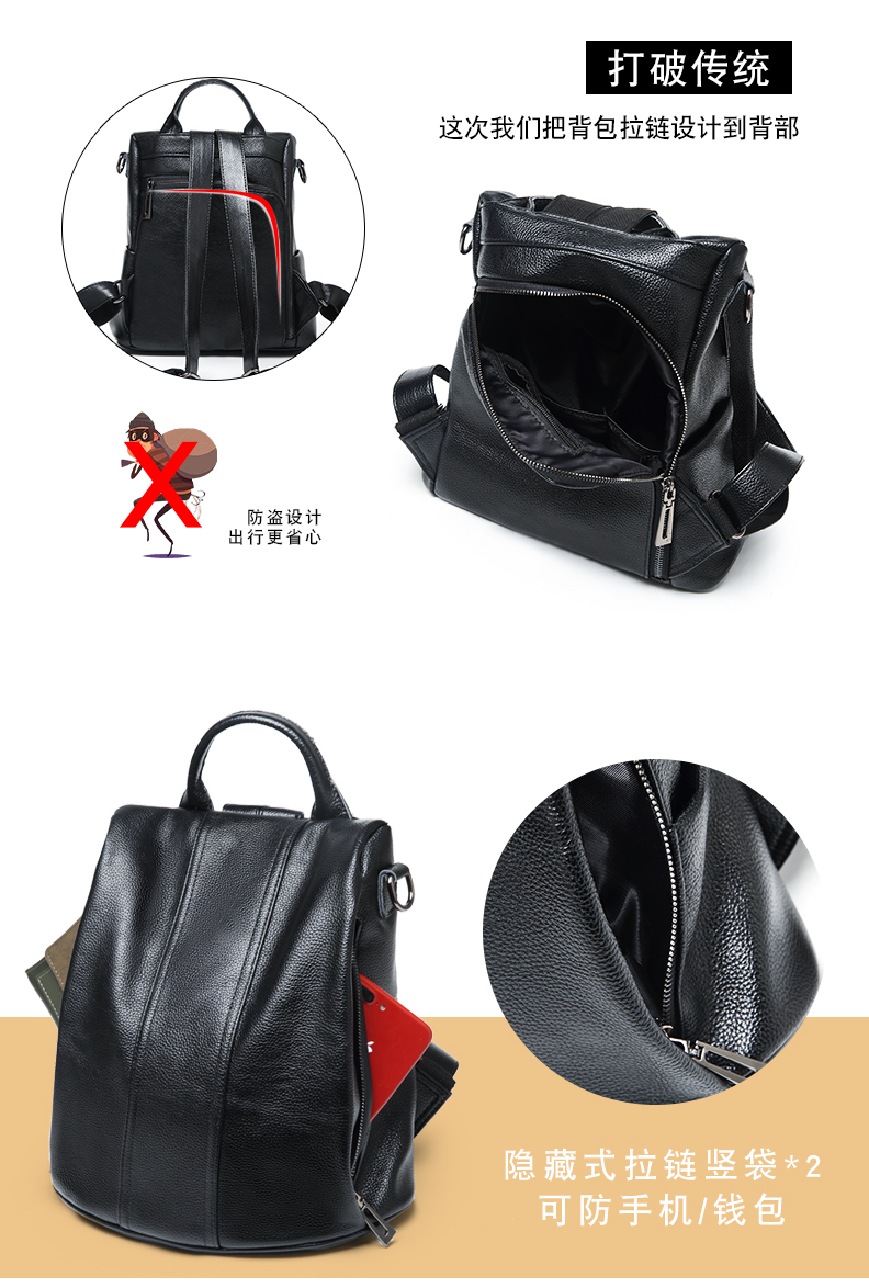 dab866f3d0ff Designer Women s Backpacks Genuine Leather Female Backpack Woman Korean  Style Ladies Strap Laptop Bag Daily Backpack Girl School. 8 01 8 02 8 03  8 05 ...