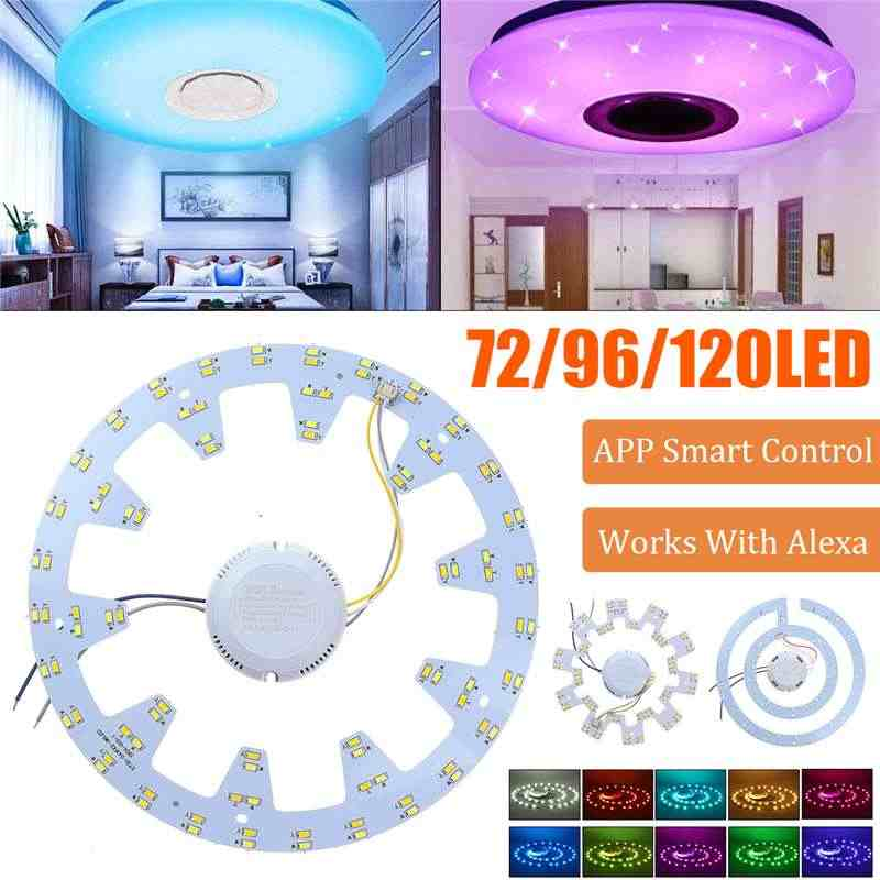 36W/48W/72W LED Ceiling Light Retrofit Lamp Emergency Replace PCB Kit LED Ring Tube Lamp with Driver WiFi APP smart control