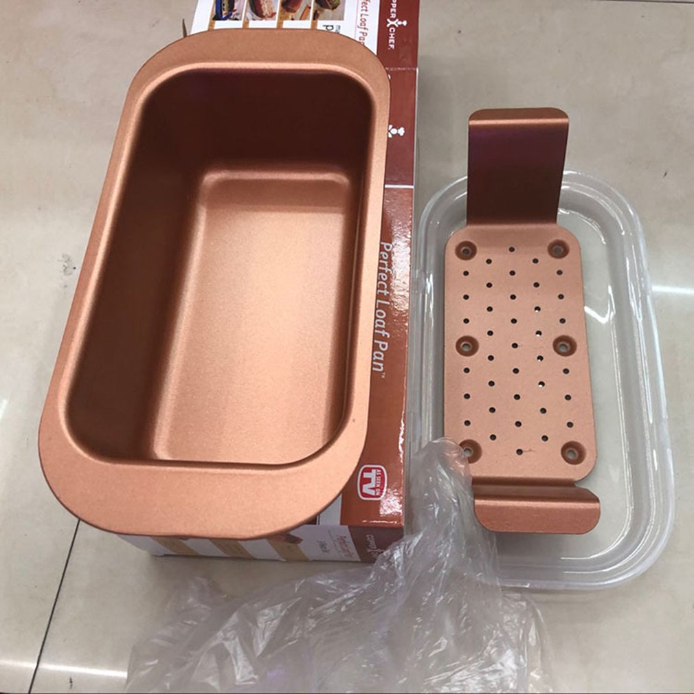 Perfect Loaf Pan Golden Square Toast Baking Tray Microwave Oven Special Baking Tray Practical Cooking Tools