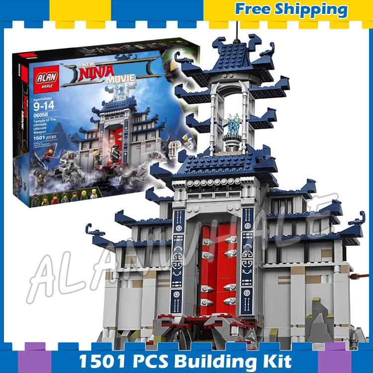 1501pcs New Ninja Ancient Temple Battle Ultimate Weapon 10722 Model Building Blocks Children Toys Bricks Compatible With lego th0757 thailand 1993 ancient temple ruins 4 new 0929