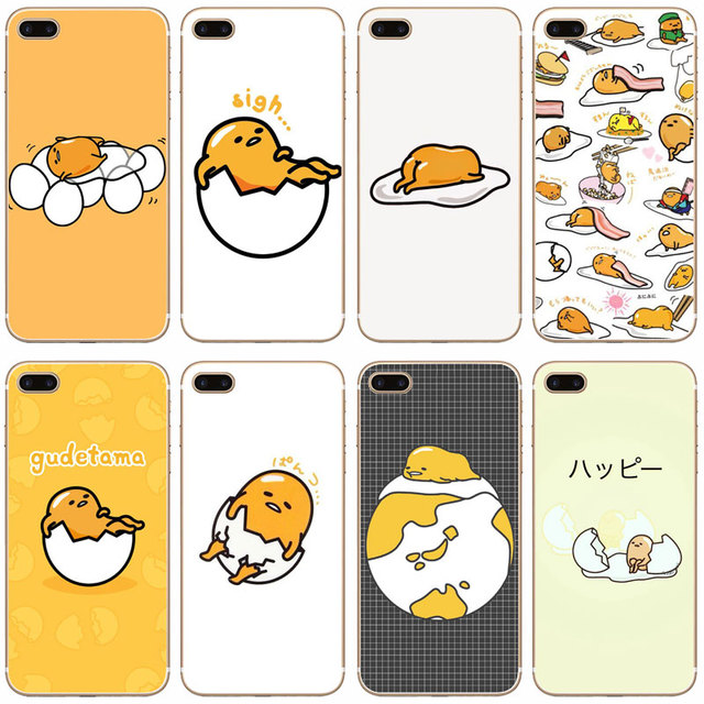 uk availability cfc18 732f9 US $1.03 35% OFF|G86 Cute Lovely Gudetama Lazy Egg Transparent Hard Thin  Case Cover For Apple iPhone XR XS Max 4 4S 5 5S SE 5C 6 6S 7 8 X Plus-in ...