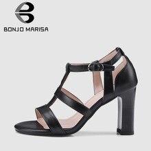 7fecd52ba 34-43 BONJOMARISA 2019 Tamanho Venda Quente Elegante Mulheres Verão  Sandálias Gladiador Senhoras Roma Respirável Verão Sapatos d.