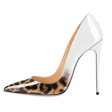 Dropshipping New Fashion High Heels Women Pumps Classic Leopard Sexy Party Wedding Shoes Plus Size Office Lady D011C