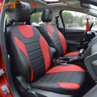 AutoDecorun Automobiles leather seat covers for Ford Focus 3 car seat covers sets cushion covers seat supports neckpillow pads
