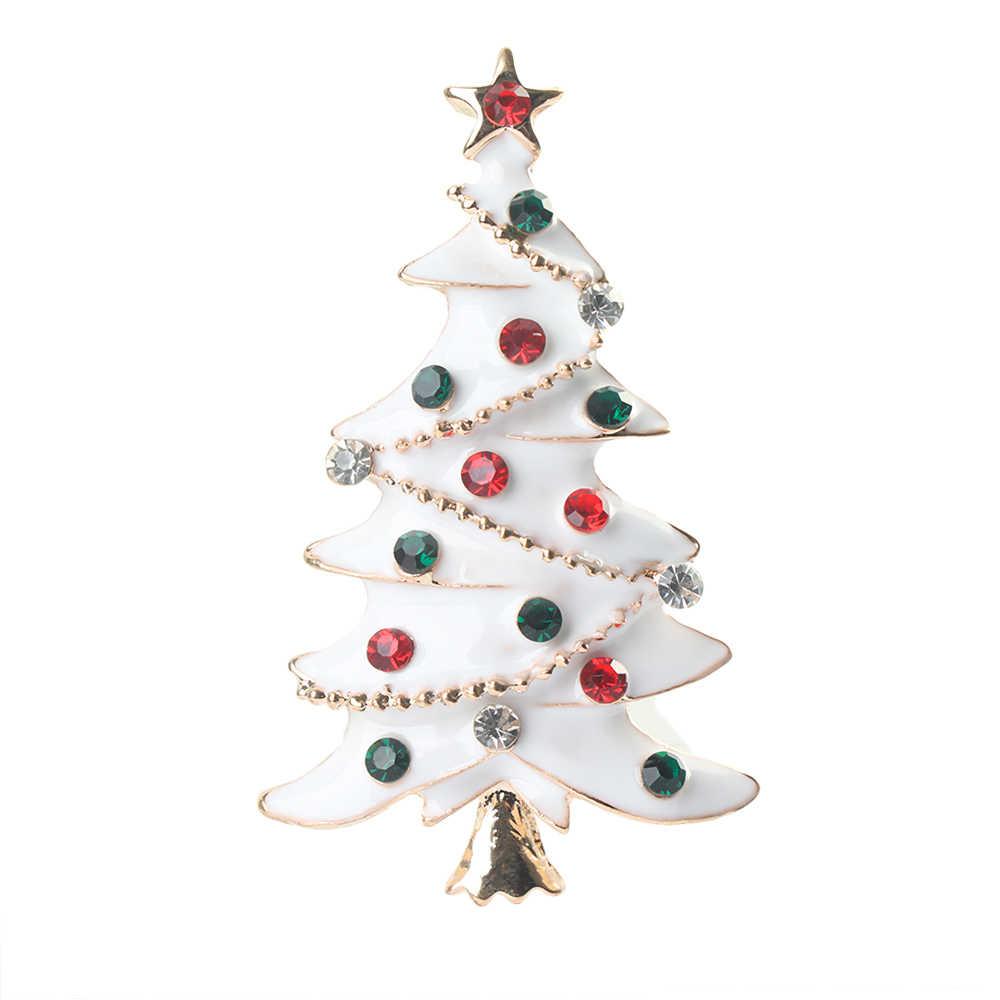 2019 Albero Di Natale Spilla Sciarpa Fibbia Collare Spille Della Lega Del Rhinestone Gioelleria raffinata e alla moda Decorazione di Festa Regali