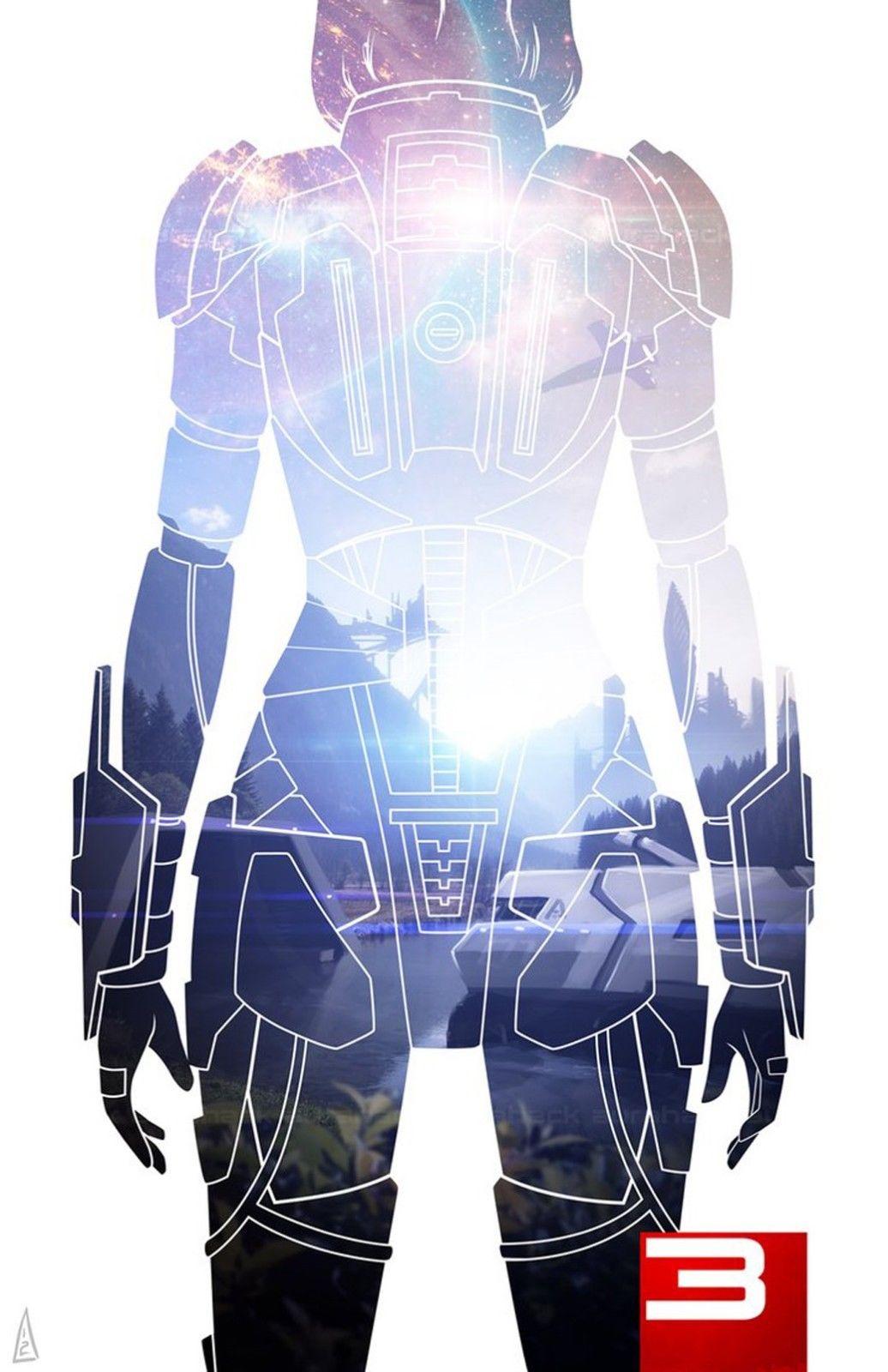 Mass Effect 3 4 Game Space War Fabric poster 36 x 24 Decor 139