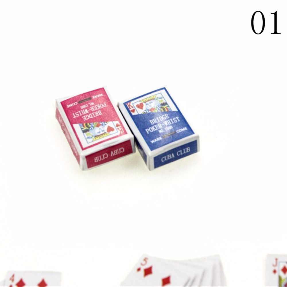 1 Набор Милые покер карты покер игральные игры для BJD Kurhn 1:12 миниатюры для кукольного домика украшение дома