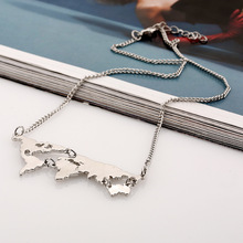 World Map Travel Necklace