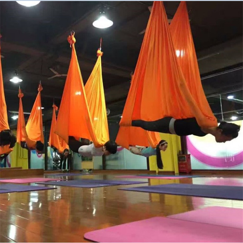 4 Meters Elastic 2017 Aerial Yoga Hammock Swing Latest Multifunction Anti-gravity Yoga Belts For Yoga Training Yoga For Sporting Fitness & Body Building Yoga