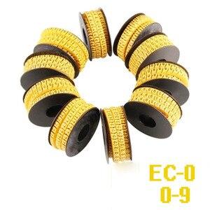 Image 2 - 5000 3000 adet sarı renk kablo işaretleyici mix numarası EC 0 EC 1 EC 2 EC 3 kablo tel işaretleyici numarası 0 9 PVC malzeme kablo işaretleyici