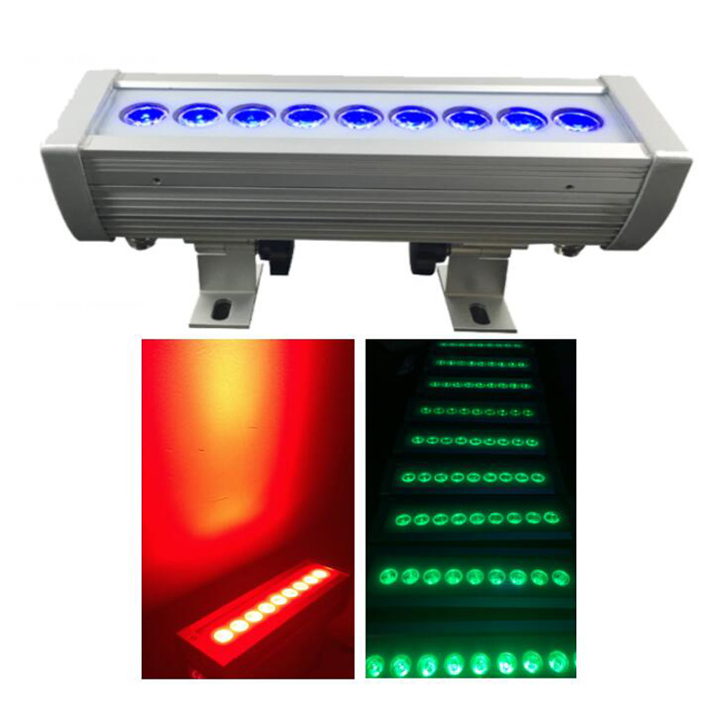 9X3W RGB 3 in1 LED wall washer light, LED bar light IP65 waterproof outdoor Lighting, 26cm Length