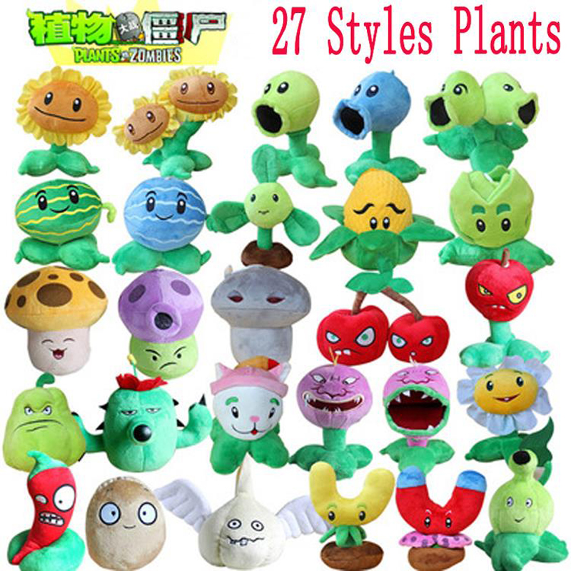 цена 1pcs Plants vs Zombies Plush Toys 13-20cm Plants vs Zombies PVZ Plants Soft Plush Stuffed Toys Doll Game Figure Toy for Kids