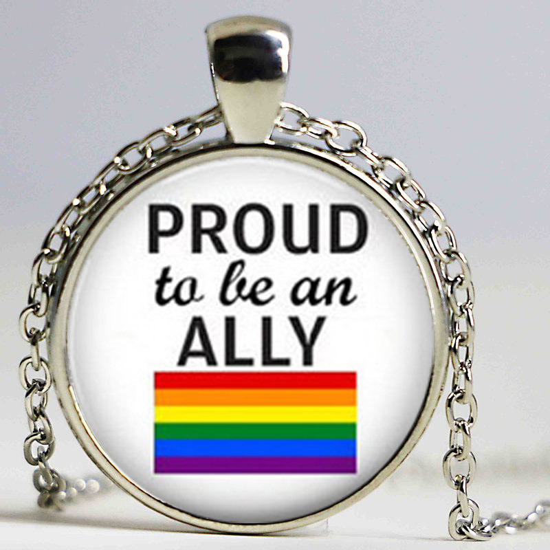 LGBT Necklace, Marriage Equality, <font><b>Bisexual</b></font>, Transgender, Love Gay Rights, Button Pendant, Equality, Gay <font><b>Pride</b></font> <font><b>jewelry</b></font> image
