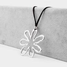 1 шт ожерелье с подвеской в виде абстрактных больших цветов
