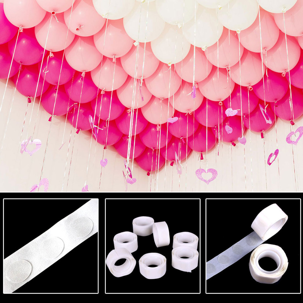 Birthday Wedding Party Tool 100pcs Balloons Glue Dot Point Double-Sided Multi Use Fix Gum Air Balls Inflatable Toys Decorations