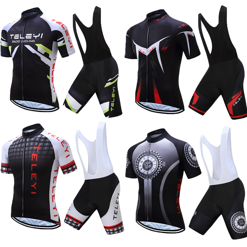 Men TELEYI Summer Cycling Jersey Kits Male 2017 Racing Bike Clothing Mtb Mallot Uniform  ...