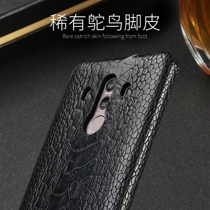 Luxury Natural Ostrich foot skin For Huawei Mate 8 9 10 Pro case Real Genuine leather Cover For P8 P9 P10 lite P Smart Nova 2S - 5