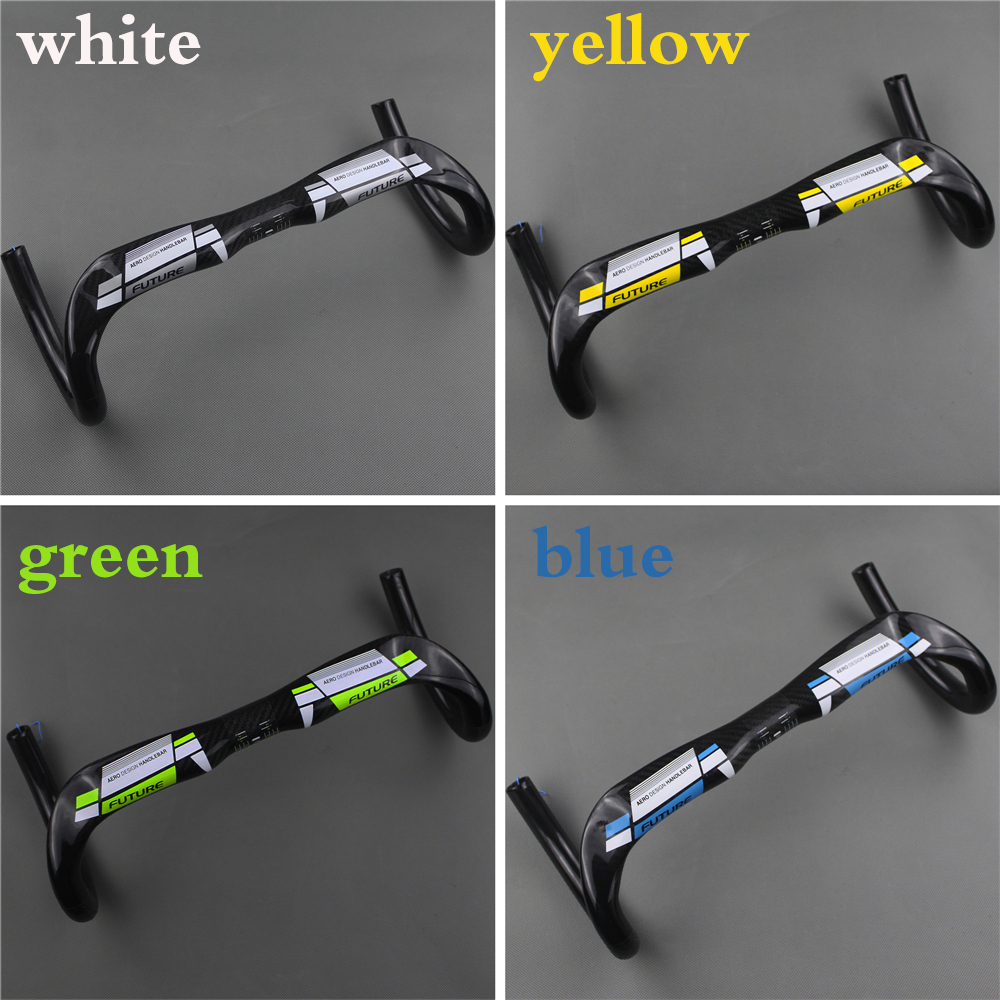 New free shipping FUTURE full carbon fiber road bike handlebar Racer handle breaking wind bent the 31.8 * 380/400/420/440mm full carbon fiber road bike ultra light handlebar super full carbon fiber road bike one bend wind bending the handle broken carb